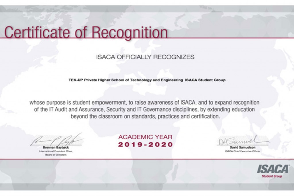 Congratulations to ISACA Club at TEK-UP